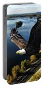 Eagle Over Mississippi  Portable Battery Charger