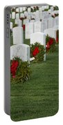 Eagle Point National Cemetery At Christmas Portable Battery Charger