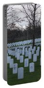 Eagle Point National Cemetery In Winter 1 Portable Battery Charger
