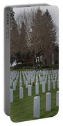 Eagle Point National Cemetery In Winter 2 Portable Battery Charger