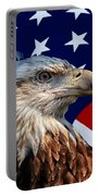 Eagle With Us American Flag Portable Battery Charger
