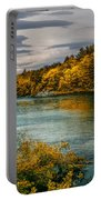 Early Autumn Along The Androscoggin River Portable Battery Charger