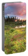 Early Autumn Meadow Sunset At Mt Baker Portable Battery Charger