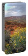 Early Evening Landscape At Arches National Park Portable Battery Charger