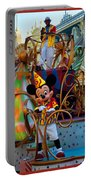 Early Morning Main Street With Mickey Walt Disney World 3 Panel Composite Portable Battery Charger