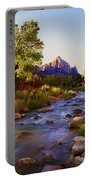 Early Morning Sunrise Zion N.p. Portable Battery Charger