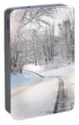 Early Morning Winter Road Portable Battery Charger