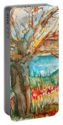 Early Winter Tree Portable Battery Charger