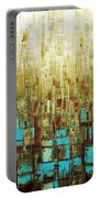 Abstract Geometric Mid Century Modern Art Portable Battery Charger