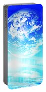 Earth Technology Background Portable Battery Charger by Michal Bednarek
