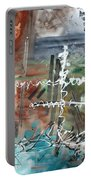 Earth Wind And Fire Abstract Painting Madart Portable Battery Charger by Megan Duncanson