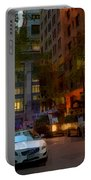 East 44th Street - Rhapsody In Blue And Orange - Close View Portable Battery Charger