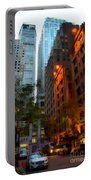 East 44th Street - Rhapsody In Blue And Orange Portable Battery Charger