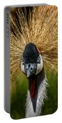 East African Crowned Crane Square Format Portable Battery Charger