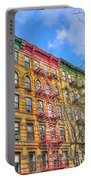 East Village Buildings On East Fourth Street And Bowery Portable Battery Charger