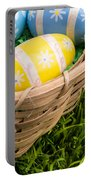 Easter Basket Portable Battery Charger by Edward Fielding