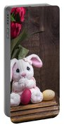 Easter Bunny Portable Battery Charger by Edward Fielding