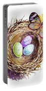 Easter Colors Bird Nest Portable Battery Charger