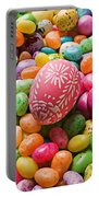 Easter Egg And Jellybeans  Portable Battery Charger by Garry Gay
