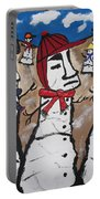 Easter Island Snow Men Portable Battery Charger