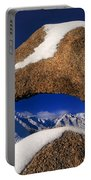 Eastern Sierras Through Snow Covered Arch Portable Battery Charger