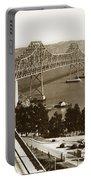 Eastern Span Of San Francisco-  Oakland Bay Bridge Circa 1937 Portable Battery Charger