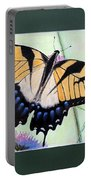 Eastern Tiger Swallowtail Butterfly By George Wood Portable Battery Charger