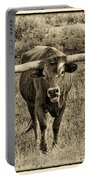 Eat Leaf Not Beef Sepia Portable Battery Charger