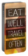 Eat Well Travel Often Portable Battery Charger