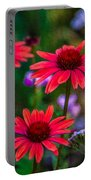 Echinacea And Yarrow Portable Battery Charger by Omaste Witkowski