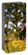 Echinacea With Bee Portable Battery Charger