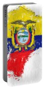 Ecuador Painted Flag Map Portable Battery Charger