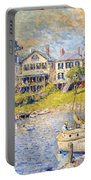 Edgartown  Martha's Vineyard Portable Battery Charger by Colin Campbell Cooper