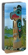 Edward Smarch Totem Pole At Teslin Tlingit Heritage Memorial Center In Teslin-yt Portable Battery Charger