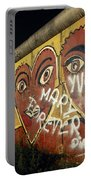 Berlin Wall Hearts Portable Battery Charger