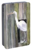 Egret At John's Pass Portable Battery Charger