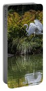 Egret At The Lake Portable Battery Charger