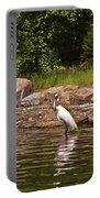 Egret In Central Park Portable Battery Charger