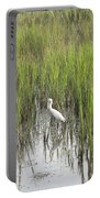 Egret In The Marsh Portable Battery Charger