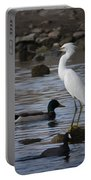 Egret Standing Guard Portable Battery Charger