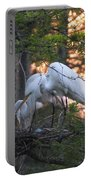 Egrets At Nest Portable Battery Charger