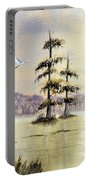 Egrets Over Wakulla Springs Portable Battery Charger