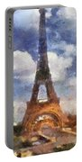 Eifel Tower Photo Art 02 Portable Battery Charger