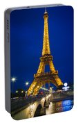 Eiffel Tower By Night Portable Battery Charger