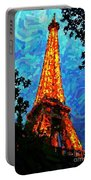 Eiffel Tower Impressionist Portable Battery Charger