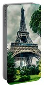 Eiffel Tower In Hdr Portable Battery Charger