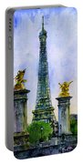 Eiffel Tower Paris Portable Battery Charger