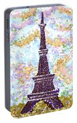 Eiffel Tower Pointillism Portable Battery Charger