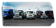 Eighteen Wheeler Vehicles On The Road Portable Battery Charger