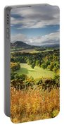 Eildon Hills In Autumn Portable Battery Charger